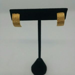 Monet Gold-Tone Half Hoop Earrings